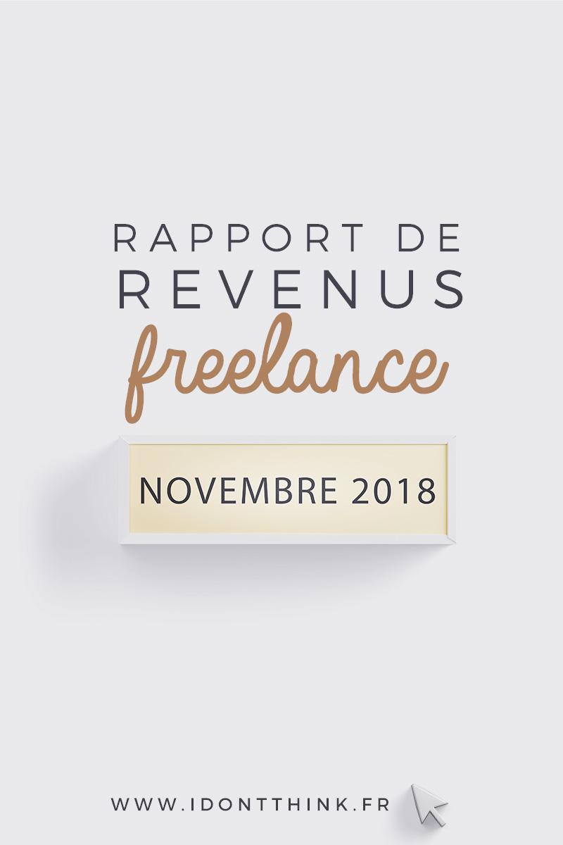 Rapport de revenus Freelance : Novembre 2018