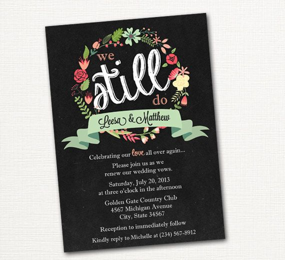 vow renewal invites
