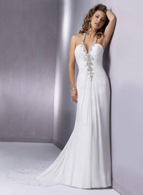 Halter Top Wedding Gowns for Older Brides