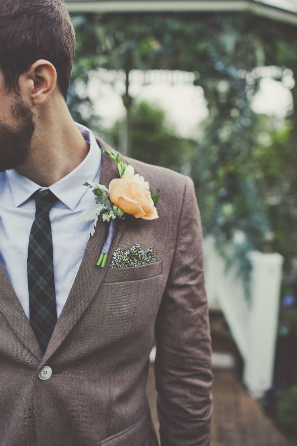 Boutonniere groom vow renewal