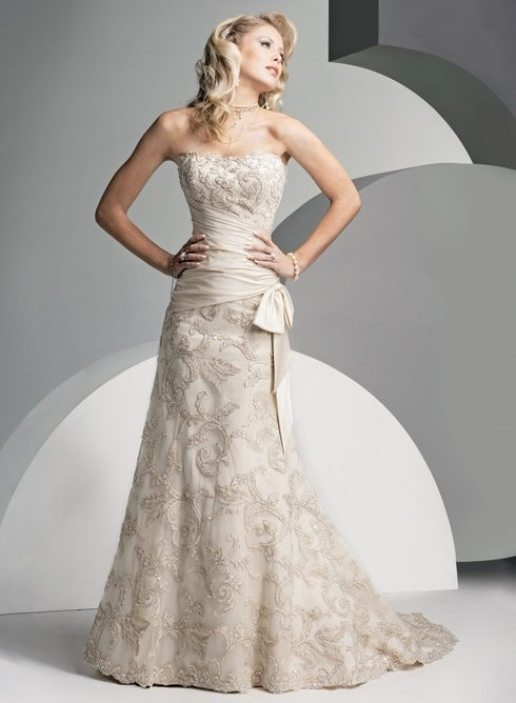 vow renewal wedding dress