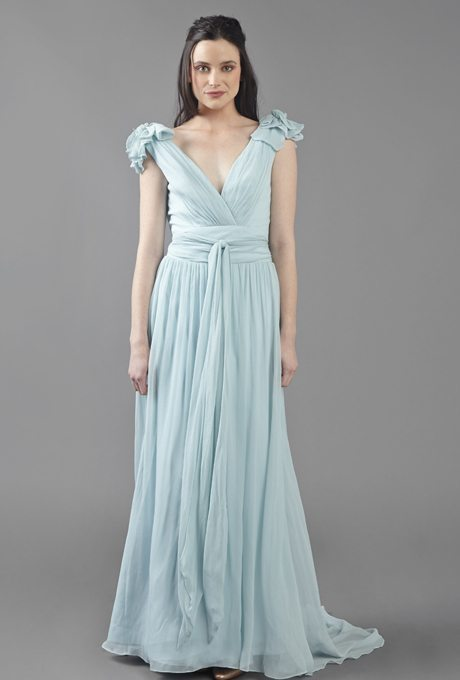 Teal colored wedding dresses