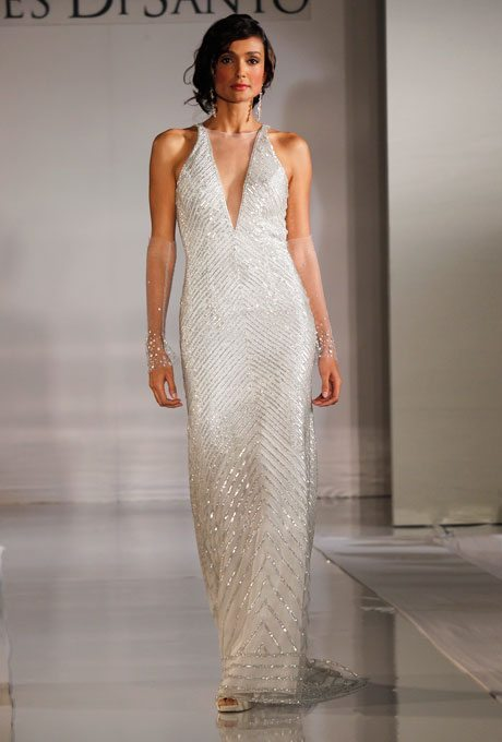 Halter Top Wedding Gowns for Older Brides