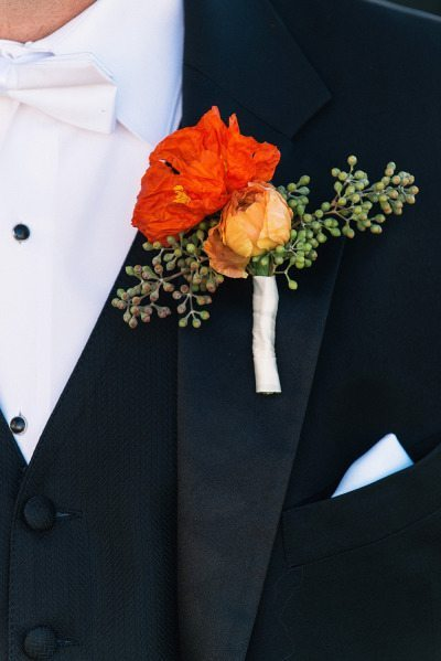 Fall Floral Wedding Boutonnieres