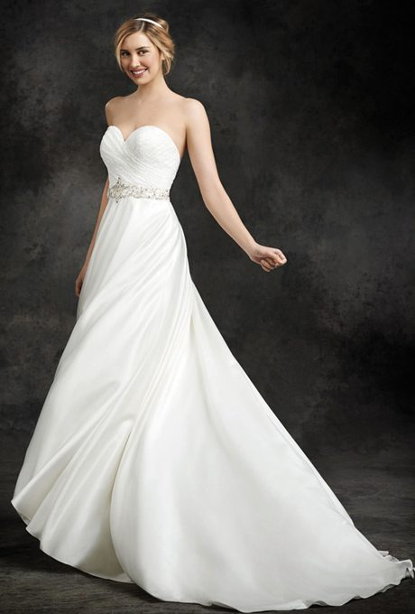 Simple satin wedding gowns for your second time around for Simple 2nd wedding dresses