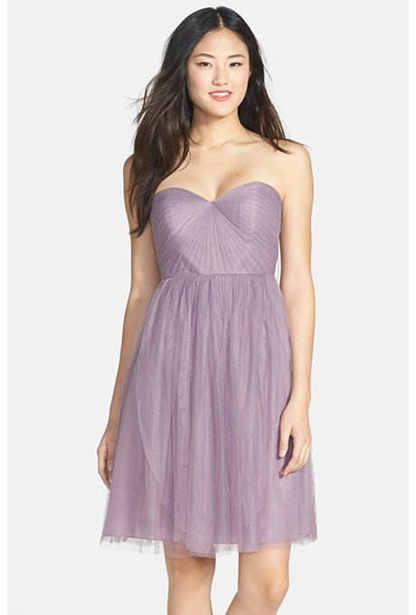 Lavender Bridesmaids and Maid of Honor Dresses