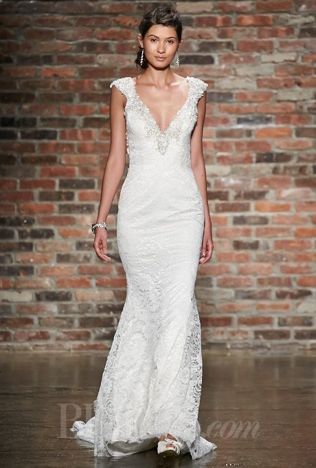 Wedding Gowns with Jeweled Necklines