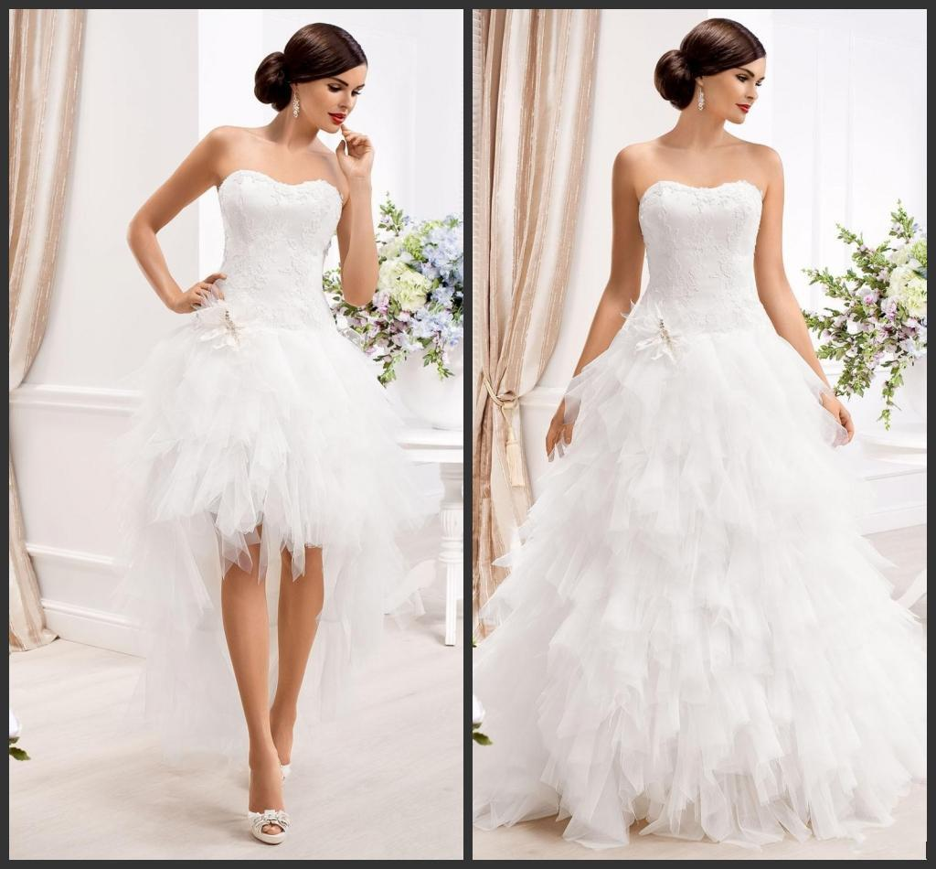 2015-two-in-one-wedding-dresses-with-detachable | | IDoTakeTwo.com