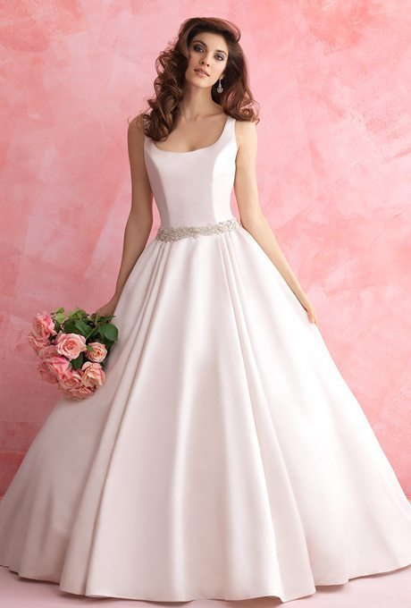 Simple Satin Wedding Gowns
