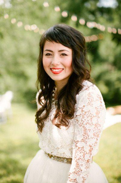 Bold Wedding Day Lips