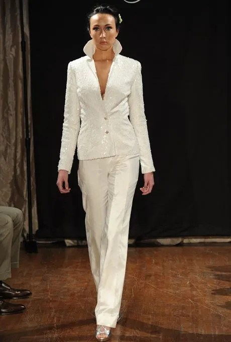 Feminine Bridal Pant Suits For Your Wedding Day