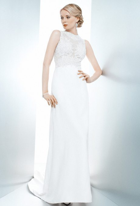 Wedding Gowns For 50 And Over : Lace on the top and satin bottom we love mixed material