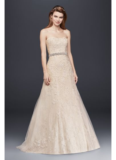 Jewel Lace A-Line Dress | David's Bridal
