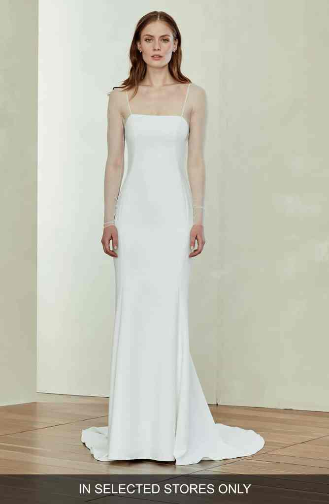 Illusion Sleeve Trumpet Gown | Amsale
