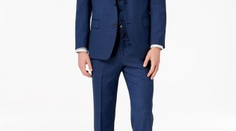 MIchael Kors Men's Classic-Fit Blue Birdseye Vested Suit