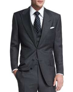 TOM FORD Windsor Base Sharkskin Three-Piece Suit
