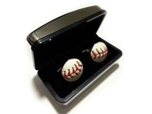 real baseball cufflinks