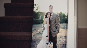 wedding photo on canvas