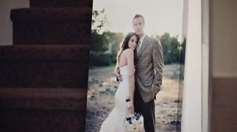wedding photo on canvas