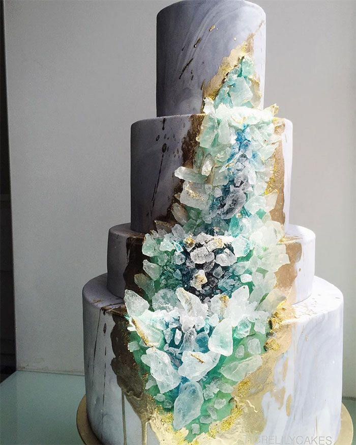 agate wedding cake