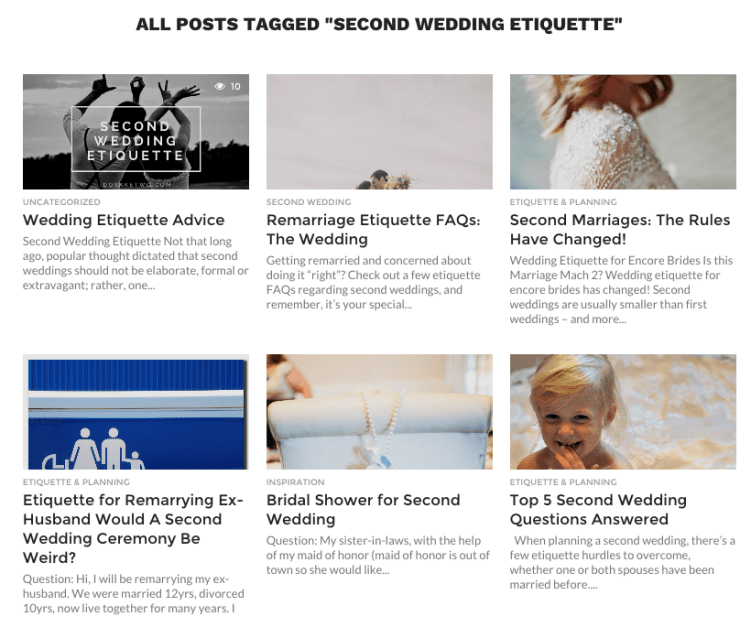 Second Marriage Wedding Gift Etiquette: Second Wedding Etiquette Advice And Help