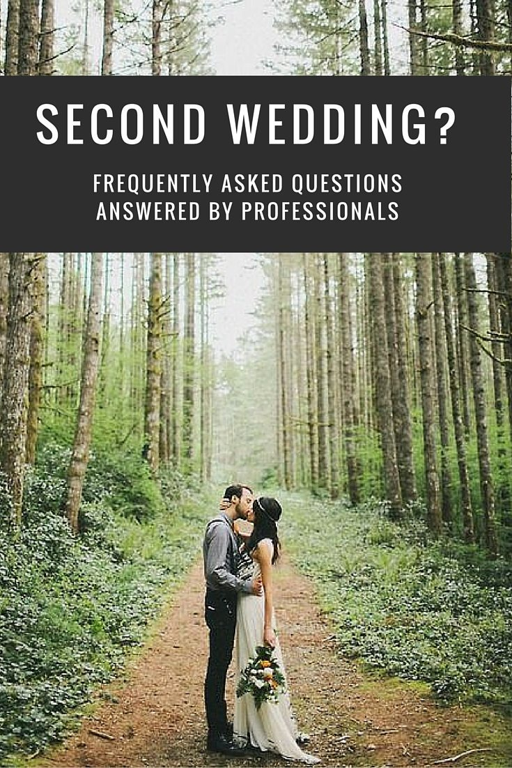 second wedding faqs