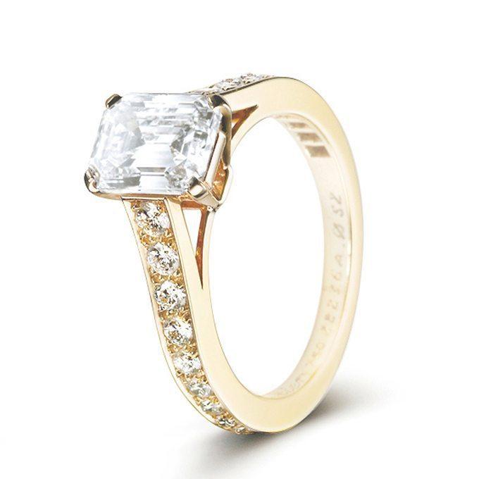 10 elegant emerald cut engagement rings for Wedding ring and engagement ring placement