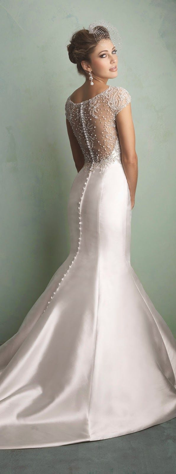 buttons down the back sophisticated wedding gowns