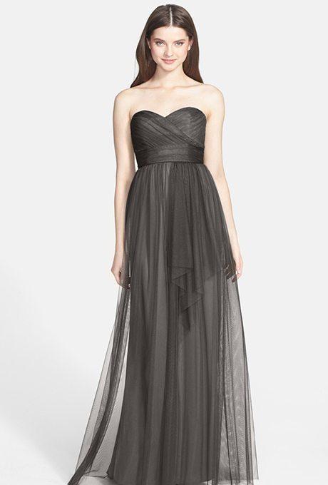 grey-bridesmaid-dresses-amsale-draped-tulle