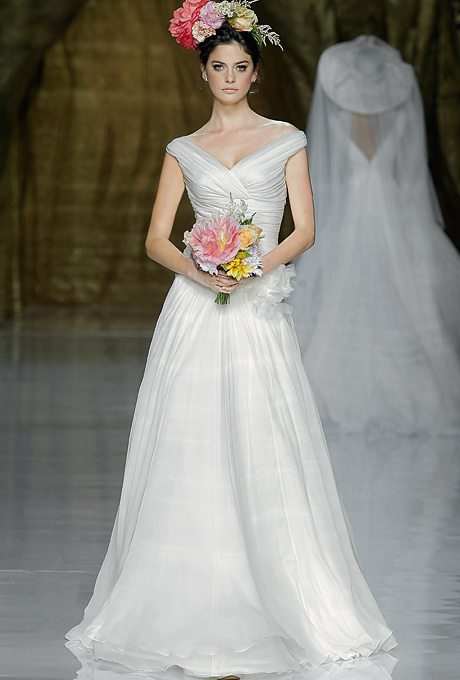 Classic Wedding Gowns with Portrait Necklines