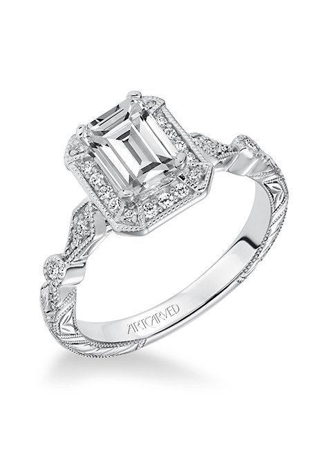 Emerald-Cut Engagement Rings