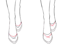 how to draw shoes and high heels for fashion desgn sketches from the front view