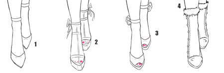 How todraw front view shoes tutorial