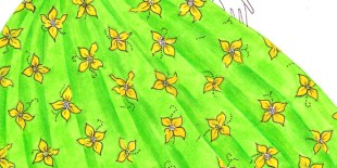 how to draw a floral print design