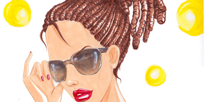 how to draw sunglasses tutorial