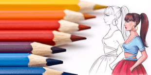 HOW TO COLOR WITH COLOR PENCILS FASHION DESIGN SKETCHES INDEX