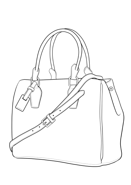 How to draw crocodile skin bag in fashion sketches step 01