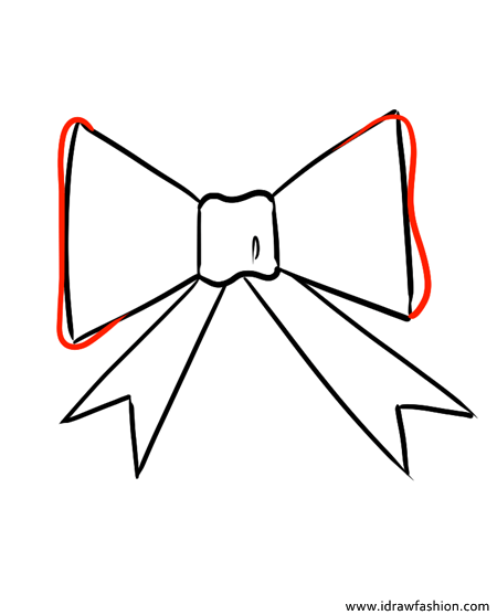 how to draw a bow step 4
