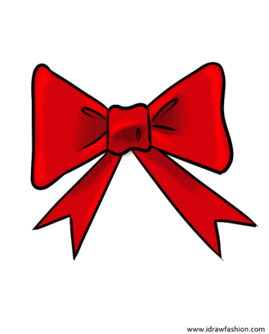 how to draw a bow step 9