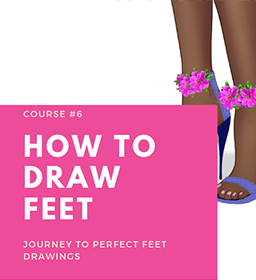HOW TO DRAW FEET online fashion designing course