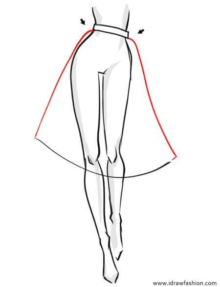 How to draw a tutu skirt in fashion sketches