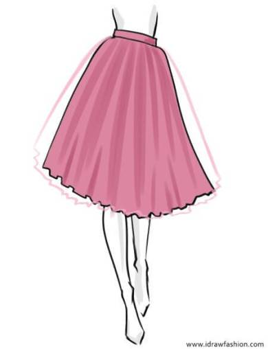 How to draw a tutu skirt in fashion sketches step by step 6