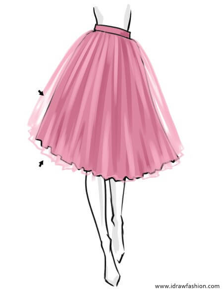 How to draw a tutu skirt layers