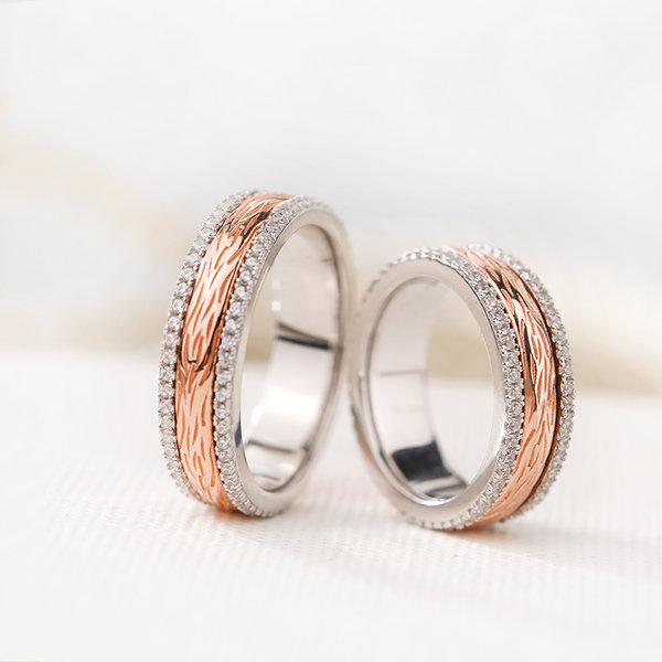 Rose Gold And Silver Wedding Band Unique Wedding Ideas