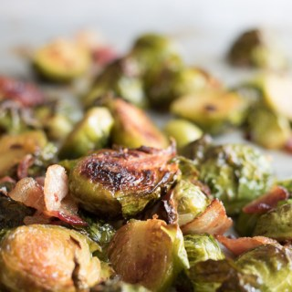 Spicy Maple Bacon Brussels Sprouts