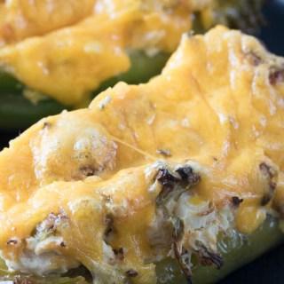 Chicken Stuffed Hatch Green Chilies