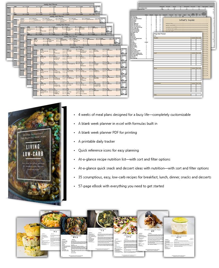 Living Low-Carb eBook Bundle Contents
