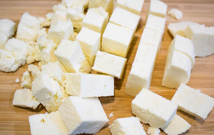 making paneer cheese