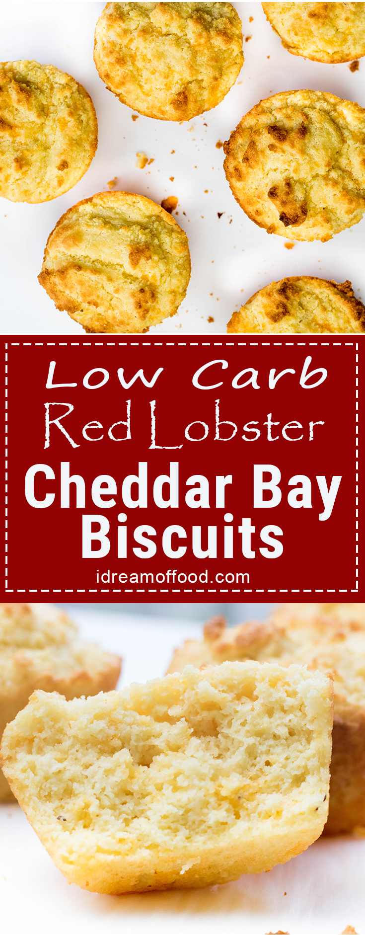 Delicious low-carb biscuits/muffins with all the flavors of Red Lobster Cheddar Bay biscuits. This recipe has changed my life. I guarantee no one will be able to tell these aren't a high-carb bread. These are perfect for a ketogenic diet and lifestyle. LCHF, Atkins, Banting, Low Carb,