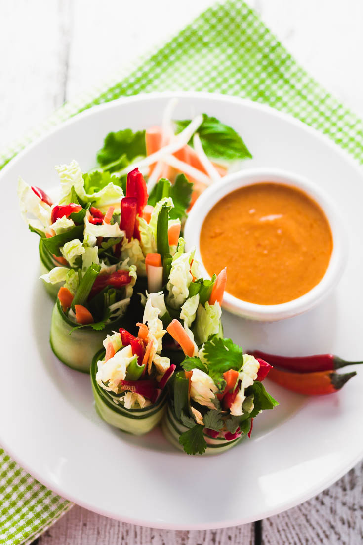 Low Carb Herby Summer Rolls